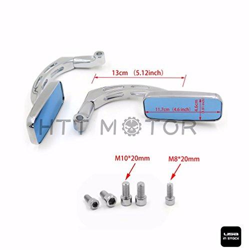 HTTMT 8mm 10mm Screw Bolt Rectangle Rear view Mirror for Honda CB1000R CBR 1000 RR Shadow Yamaha Suzuki