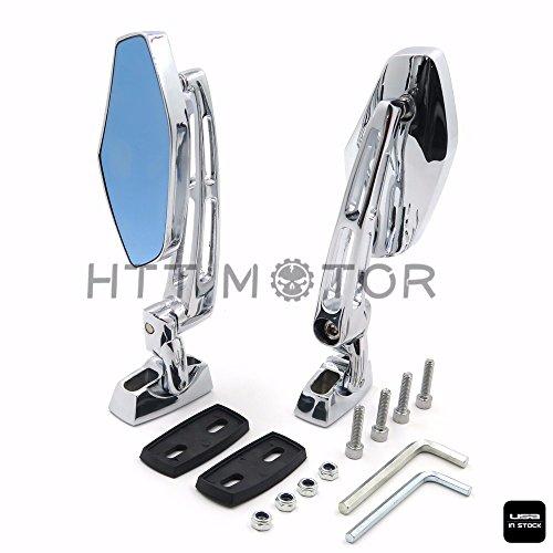 HTTMT Chrome 6mm CNC Aluminum Rear view Side Mirrors for Yamaha XVS 1100 V-Star Custom