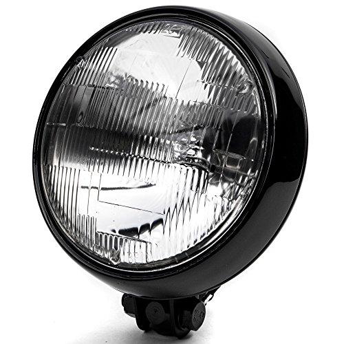Krator 6 Black Motorcycle Headlight Thin Bottom Mounting Running Light High  Low Beam for Harley Davidson V-Rod Night Street V Rod