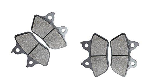 CNBK Motorcycle Semi-Metallic Brake Pads Set for HARLEY DAVIDSON Street Bike XLH883 XLH 883 cc 883cc Sportster 00 01 02 03 2000 2001 2002 2003 4 Pads