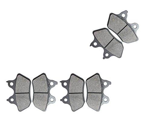 CNBK Semi Met Brake Pads Set fit for HARLEY DAVIDSON Street Bike VRSCB 1130 cc 1130cc V-Rod 04 05 06 07 08 09 10 11 12 13 14 15 2004 2005 2006 2007 2008 2009 2010 2011 2012 2013 2014 2015 6 Pads