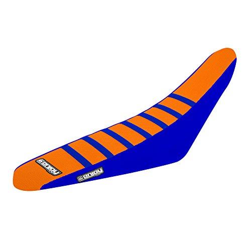 Enjoy MFG 2006 - 2012 KTM SX 85 Blue Sides  Orange Top  Blue Ribs Seat Cover