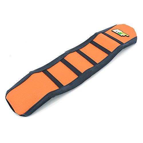 JFG RACING OrangeBlack Gripper Soft Rubber Seat Cover Skin For KTM 65 SX 2009-2014 Dirt Bike