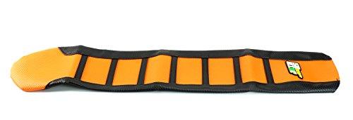 STONEMEN Rubber Striped Motorcycle Soft-Grip Gripper Ribbed Seat Cover For KTM SX SXF XC XCF 125 250 300 400 450 Motorcycle Dirt Bike Motoxross Endure Off Road B11170104 Orange
