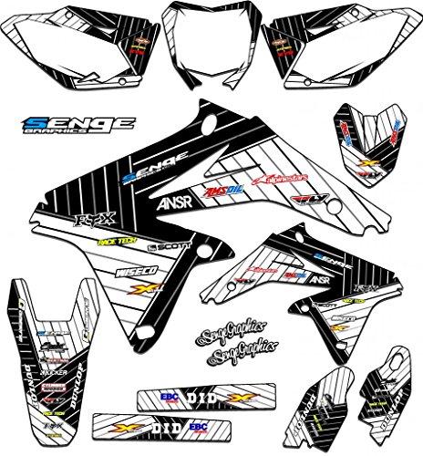 Senge Graphics 2000-2004 Suzuki DRZ 400 SM Race Series White Graphics Kit