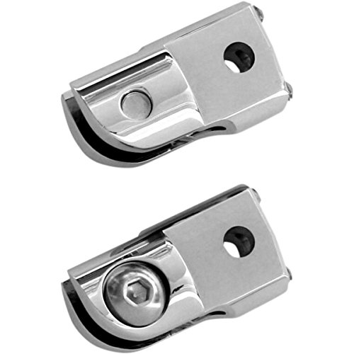 Accutronix Rear Folding Footpeg Adapters - Chrome FRMT401-C