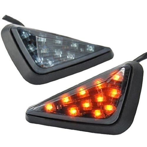 Universal Triangle LED Motorcycle Turn Signal Lights for Honda Suzuki Yamaha Kawasaki Harley Davidson QMPJ173