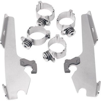 Memphis Shades Trigger-Lock Mount Kit for FatsSlim Windshields and Batwing Fairing Polished MEK1913