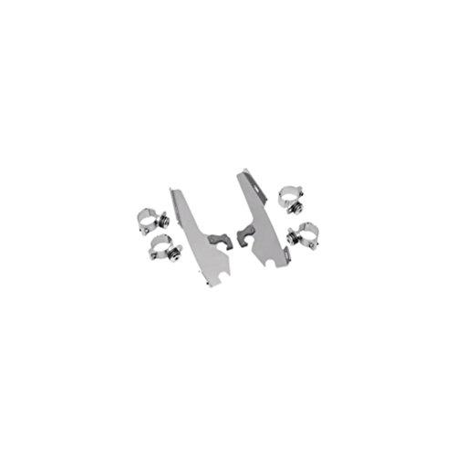 Memphis Shades Trigger-Lock Mount Kit for Sportshield Windshields - Polished MEM8917