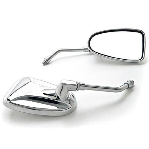 Krator Custom Rear View Mirrors Chrome Pair wAdapters For Honda VTX 1300 C R S RETRO