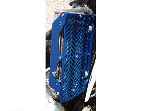 7602 Racing radiator braces with front guard KTM  Husqvarna 2008-2016 blue