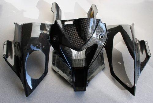 2010-2014 BMW S1000RR Carbon Fiber Fibre Headlight Front Fairing Cowl Center Air Ram Dam