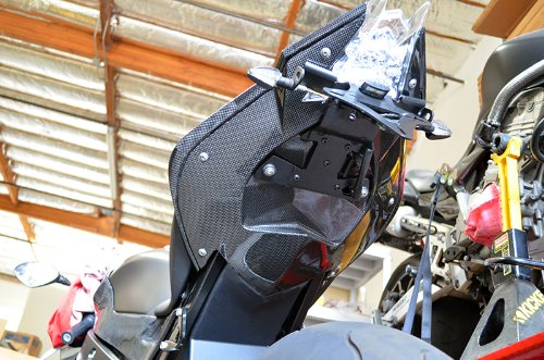 2009 2010 2011 BMW S1000RR Carbon Fiber Rear Seat Under Tray Tail Fairing Panel