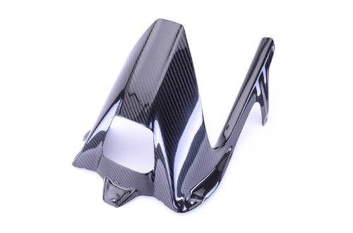 Bestem CBBM-S1K-HGCG-T Black Carbon Fiber Rear Hugger with Twill Weave Chain Guard for BMW S1000RR 2009 - 2015 S1000R 2014 - 2015