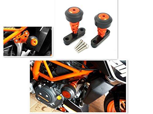 Alpha Rider Frame Sliders Crash Pads Protector For KTM 125 200 390 DUKE 2012-2015 03 04 Orange