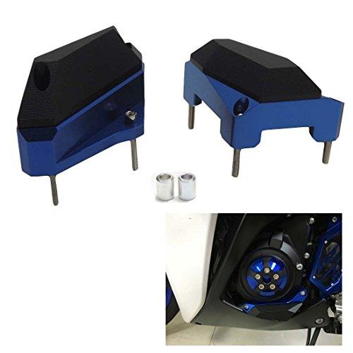 Blue Engine Cover Guard Crash Pads Protector for YZF-R25 R3 MT-03 mt-25 Engine Case Slider 2015