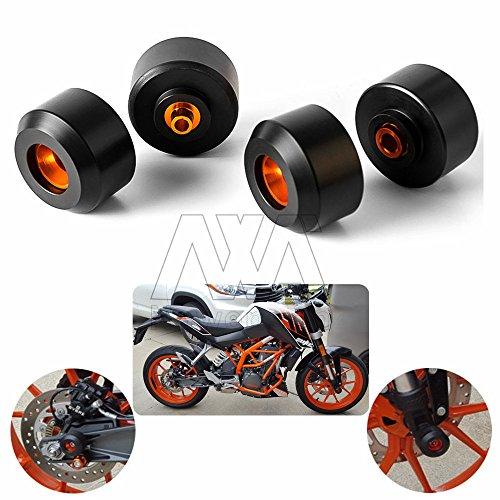 Motorbike Front Rear Fork Wheel Frame Slider Crash Pads Protector For KTM DUKE 39013-15 DUKE 125200