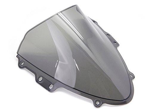9sparts Black  Clear  Smoke Double Bubble ABS Plastic Injection Windscreen Windshield For 2004 2005 Suzuki GSXR600 GSXR750 GSXR 600 750 Smoke