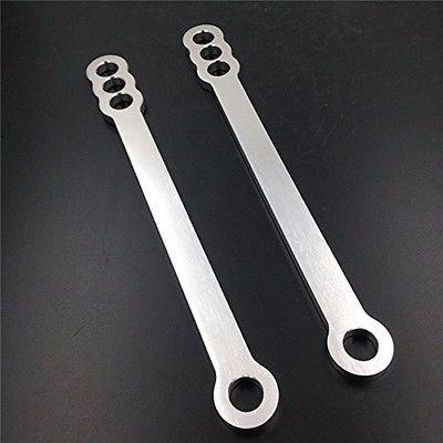 Aftermarket Motorcycle Chrome Lowering Link Kit Suspension Drop Links Linkage Dogbones for 2001-2005 Suzuki GSXR 600 750 2001-2004 GSXR 1000 2002 2003 2004 01-05 01-04
