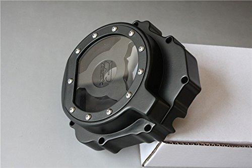 HTT- Billet Aluminum Engine Stator Cover See Through GSXR Logo For 2004-2005 Suzuki GSXR 600 750  2003-2004 Suzuki GSXR1000 Black Left