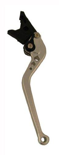 Motobrackets standard 4 adjustable SILVER brake lever for Suzuki 2004-2009 GSXR 600  GSXR 750 2005-2008 GSXR 1000 and Kawasaki 2005-2006 ZX636R  ZX6RR