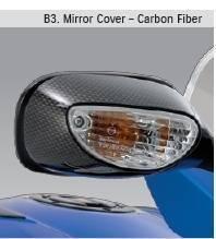 Suzuki Gsx-r1000 Gsx-r750 Gsx-r600 Gsxr 1000 750 600 Carbon Fiber Mirror Covers