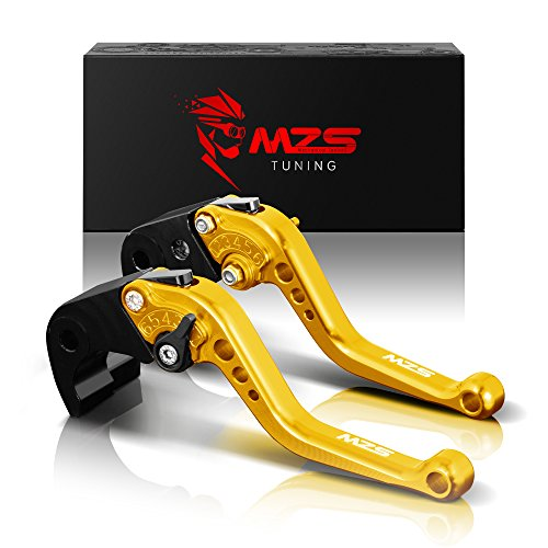 MZS Short Brake Clutch Levers for Yamaha YZF R1 2004-2008YZF R6 2005-2016 Gold