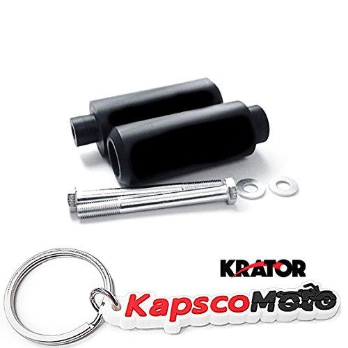 Krator 1999-2006 Honda CBR 600 F4 F4i Black Extended Frame Sliders Crash Protectors Motorcycle  KapscoMoto Keychain