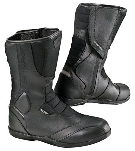 SHIMA STRADA LADY Road Women Sport Retro Leather Classic Black Motorcycle Boots 38 Black