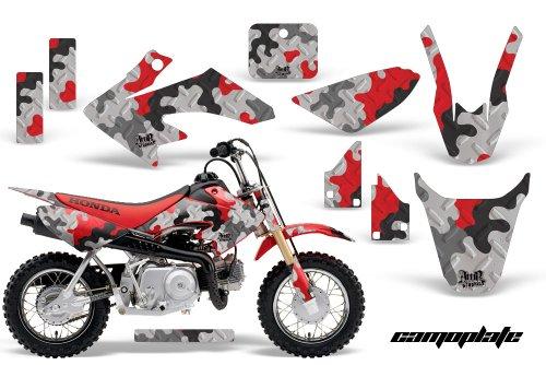 HONDA CRF50 2004-2013 MX Dirt Bike Graphic Kit Sticker Decals CR 50 CAMOPLATE RED