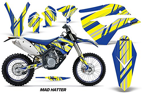 Husaberg FE FS 450 670 2009-2012 MX Dirt Bike Graphic Kit Sticker Decals INILNE BLUE YELLOW
