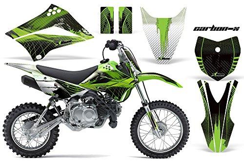 Kawasaki KLX110L 2010-2018 MX Dirt Bike Graphic Kit Sticker Decals KLX 110 L CARBONX GREEN