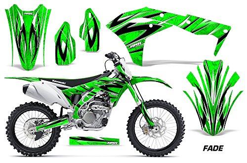 Kawasaki KXF250 2017-2018 MX Dirt Bike Graphic Kit Sticker Decals KX250F- FADE GREEN
