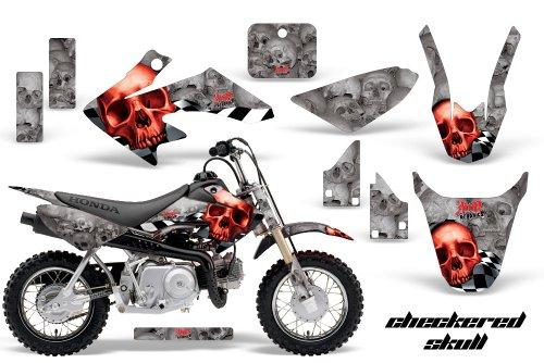 HONDA CRF50 2004-2013 MX Dirt Bike Graphic Kit Sticker Decals CR 50 CHECKERED RED