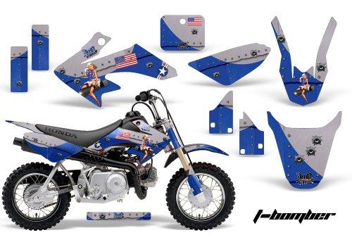 HONDA CRF50 2004-2013 MX Dirt Bike Graphic Kit Sticker Decals CR 50 TBOMB BLUE
