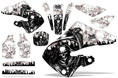 Honda CR125 1998-1999 CR250 1997-1999 MX Dirt Bike Graphic Kit Sticker Decals CR 125 250 REAPER WHITE