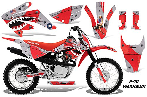Honda CRF80 CRF100 2011-2016 MX Dirt Bike Graphic Kit Sticker Decals CRF 80 100 WARHAWK RED