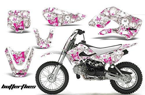 Kawasaki KLX110 2002-2009 MX Dirt Bike Graphic Kit Sticker Decals KLX 110 BUTTERFLY PINK