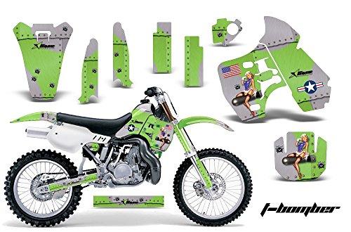 Kawasaki KX500 1988-2004 MX Dirt Bike Graphic Kit Sticker Decals KX 500 TBOMB GREEN