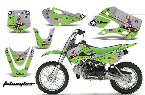 Kawasaki KX65 2002-2016 MX Dirt Bike Graphic Kit Sticker Decals KX 65 TBOMB GREEN