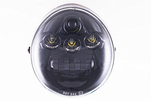 Black LED Headlight For Harley Davidson V-Rod VRod