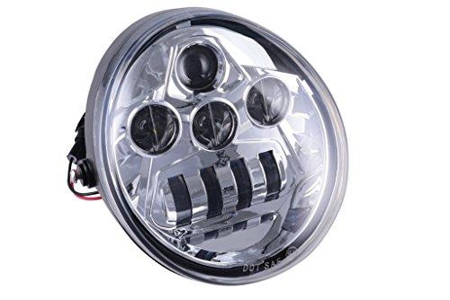 Chrome LED Headlight For Harley Davidson V-Rod VRod