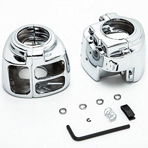 Krator Chrome Handlebar Switch Housings Control Cover Kit For 2002-2005 Harley Davidson V-Rod