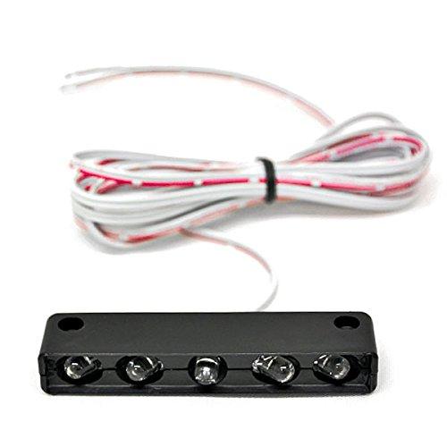 Krator White License Plate Tag Light 5 LED Fender Lite For Harley Davidson V-Rod Night Street V Rod
