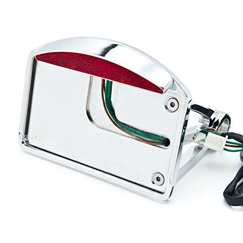 Krator Side Mount License Plate LED Tail Brake Light For Harley Davidson Softail Fat Boy FLSTF