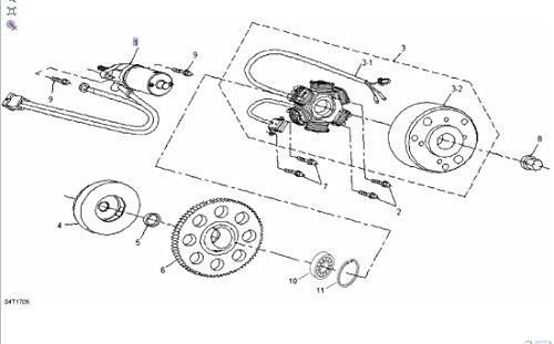 Cam Am 2008-2016 DS 70 90 Mini ATV Can-Am Motor Starter Assembly V31200DGF020LL New OEM
