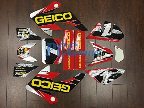 10Z GEICO GRAPHICS DECAL STICKERS KIT HONDA CRF50 CRF 50 F 2004-2014 SDG SSR DE65
