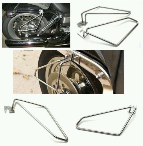 Motorcycle saddlebags brackets for harley sportster hugger and iron
