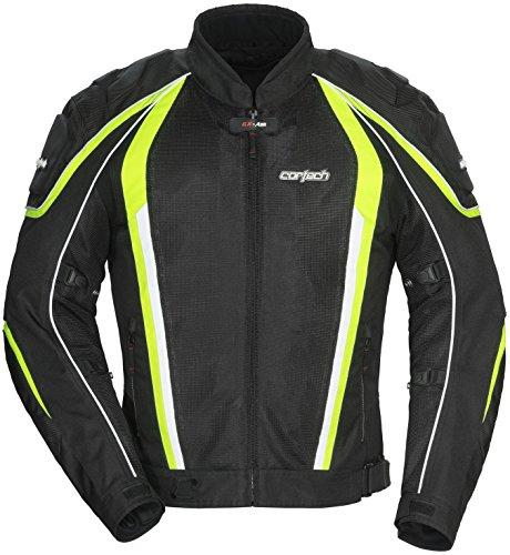 Cortech GX-Sport Air 40 Mens BlackHi-Viz Yellow MeshTextile Jacket - X-Large