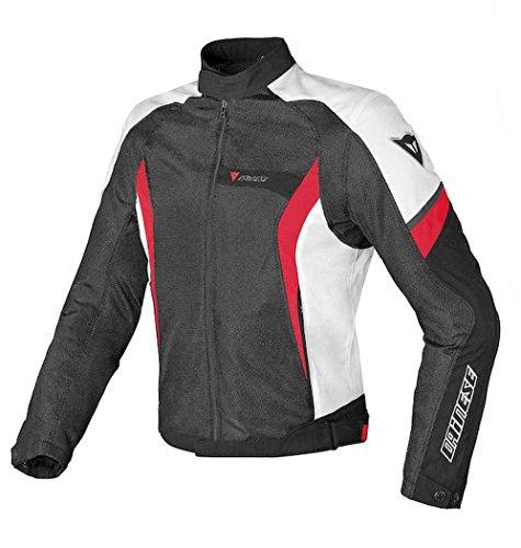 Dainese Air Crono Mens Mesh Textile Jacket BlackWhiteRed 40 USA50 Euro